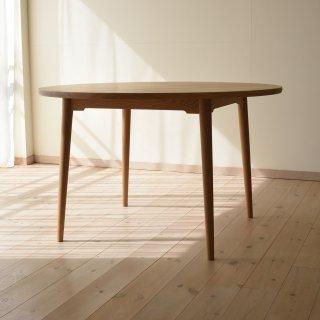 直径110cm、丸ダイニングテーブル4本脚(早割5%オフ適用)