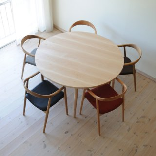 丸ダイニングテーブル5本脚(直径120cm)