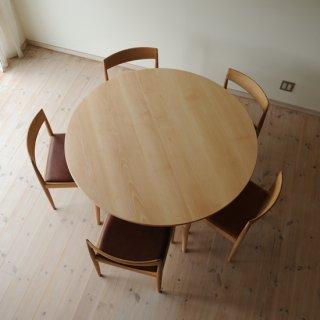 丸ダイニングテーブル5本脚(直径140cm)