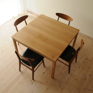 W110cm、ナラ正方形ダイニングテーブルtypeS(早割適用なし)