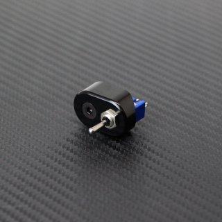 マイクロ ハンドルスイッチ シングル ブラック 22.2mm用 トグルスイッチ ON-OFF-ON