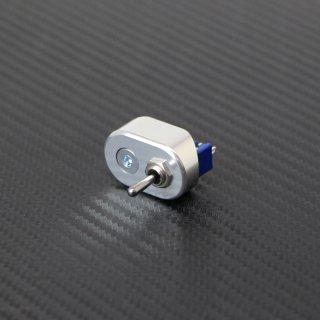 マイクロ ハンドルスイッチ シングル シルバー 22.2mm用 トグルスイッチ ON-ON/ON-OFF