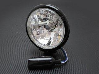 ヘッドライト 5-3/4インチ 5.75インチ ベーツタイプ マルチリフレクターレンズ ブラックハウジング クリアレンズ