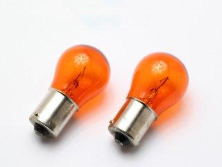 カラーバルブ アンバー オレンジ S25 12V 21W 2個セット オレンジバルブ