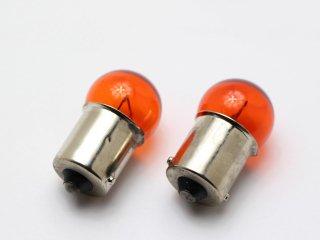 カラーバルブ アンバー オレンジ G18 12V 21W 2個セット オレンジバルブ
