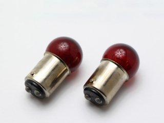 カラーバルブ レッド G18 12V 21/5W 2個セット レッドバルブ