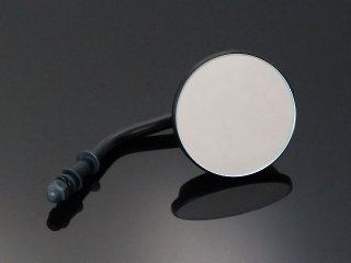 ミラー 3インチ ラウンド 貫通マウントタイプ ブラック