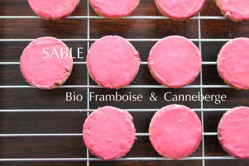 有機フランボワーズとクランベリーのサブレ SABOURET Organic Raspberry & Cranberry