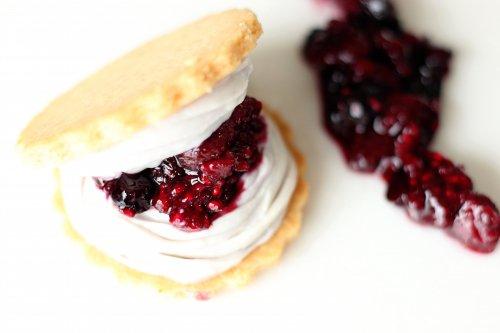 アイスクッキーサンド 三種の有機ベリーとレアチーズクリーム