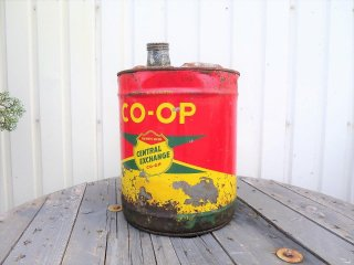 ビンテージ 60's COOPオイル缶