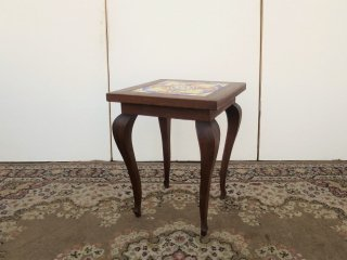 ビンテージ 30-40's タイルトップサイドテーブル