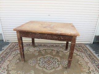 ビンテージ ウッドワークテーブル