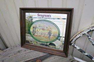 ビンテージ  Seagram's パブミラー