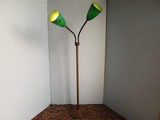 ビンテージ 50's 2灯ファイバーフロアランプ