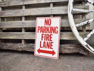 ビンテージ NO PARKING FIRE LANE サイン