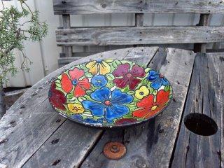 ビンテージ Italy製 花柄サービングボウル