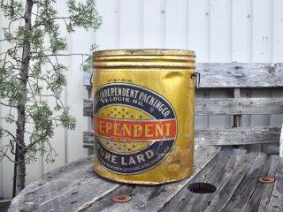 ビンテージ INDEPENDENTラード缶
