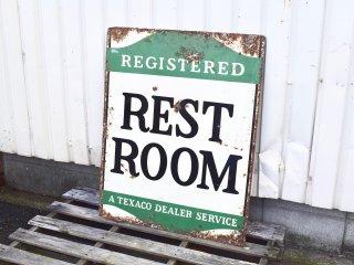 ビンテージ 40's TEXACO REST ROOM サイン