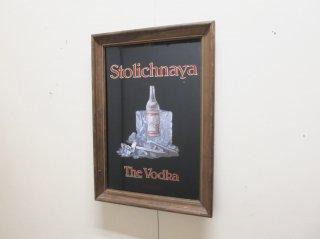 ビンテージ stolichnaya パブミラー