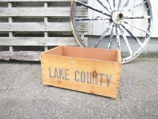 ビンテージ LAKECOUNTY 木箱