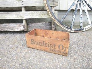 ビンテージ  Sunkist 木箱