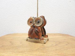 ビンテージ 70's フクロウモチーフナプキンホルダー