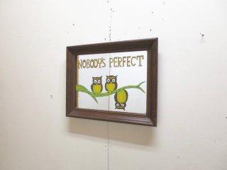 ビンテージ NOBODY'S PERFECT フクロウパブミラー