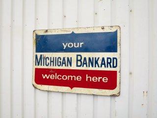 ビンテージ MICHIGAN BANKARD サイン