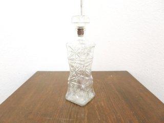 ビンテージ カッティングガラスボトル