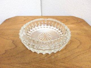 ビンテージ カッティングガラスアシュトレイ