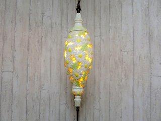 ビンテージ 60-70's フラワーデザインランプ