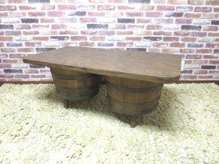 ビンテージ 70's バレルコーヒーテーブル