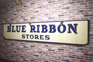 ビンテージ 40's BLUE RIBBON STORES サイン