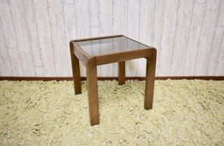 ビンテージ 60-70's ガラストップサイドテーブル