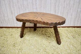 ビンテージ ウッドアメーバサイドテーブル