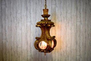 ビンテージ 60-70's 3灯燭台モチーフペンダントランプ