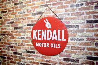 ビンテージ KENDALL 両面ホーローサイン