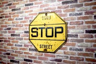 ビンテージ STOP ホーローサイン