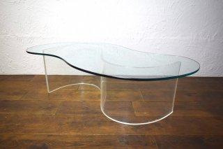 ビンテージ 60-70's Vladimir Kagan ルーサイトコーヒーテーブル