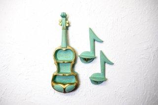 ビンテージ 50's バイオリンモチーフウォールデコset