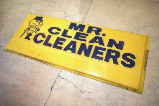 ビンテージ Mr.CLEAN CLEANERS 特大サイン