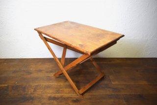 ビンテージ フォールディングウッドテーブル