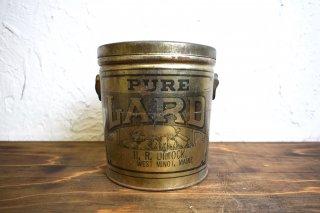 ビンテージ ラード缶