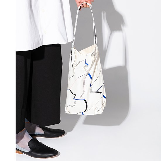 TRICOTE/cut ribbon tote bag