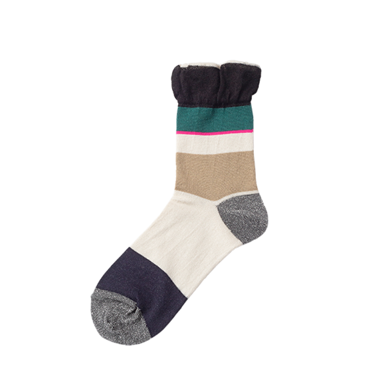 TRICOTE/toe lame randam socks