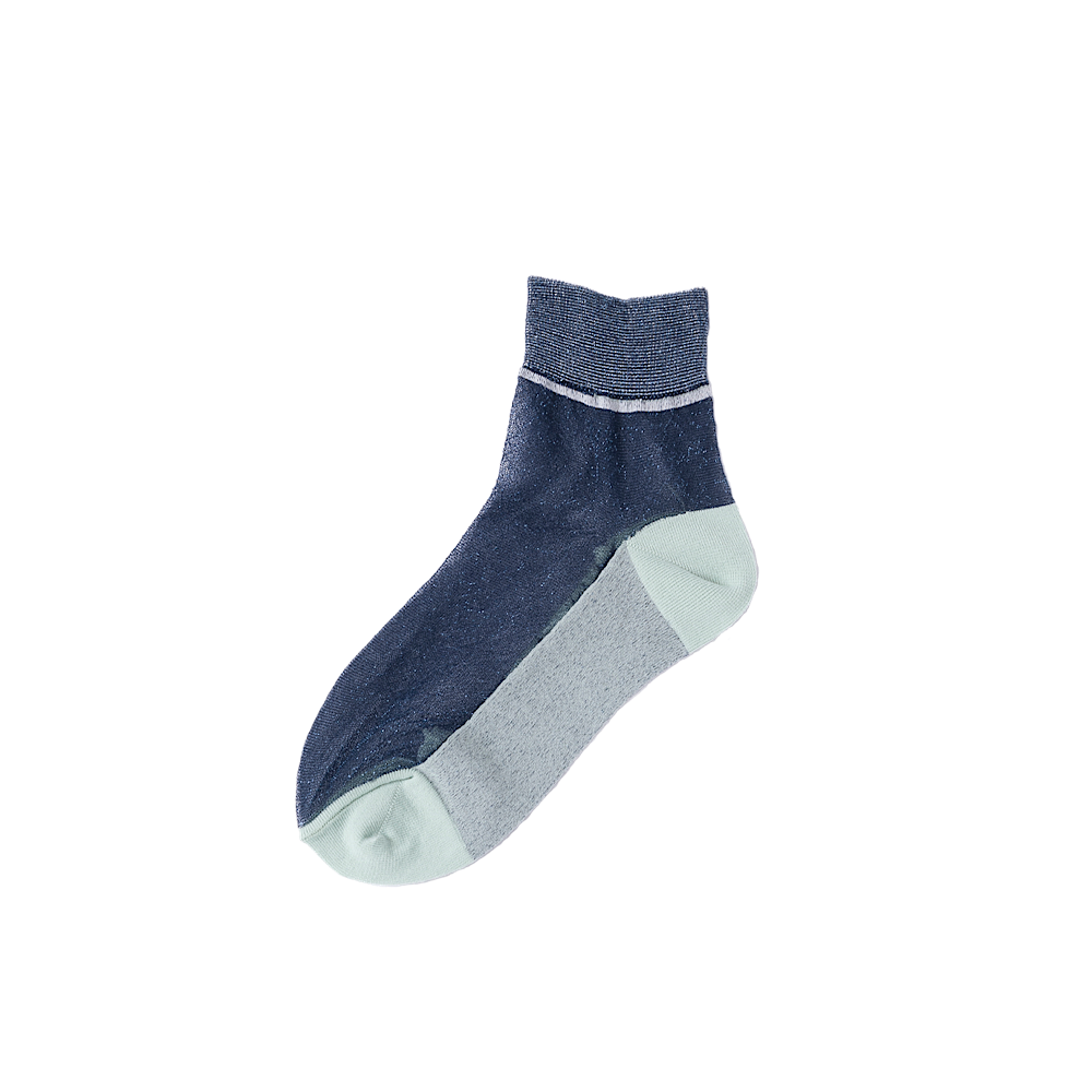 TRICOTE/lame see-through socks