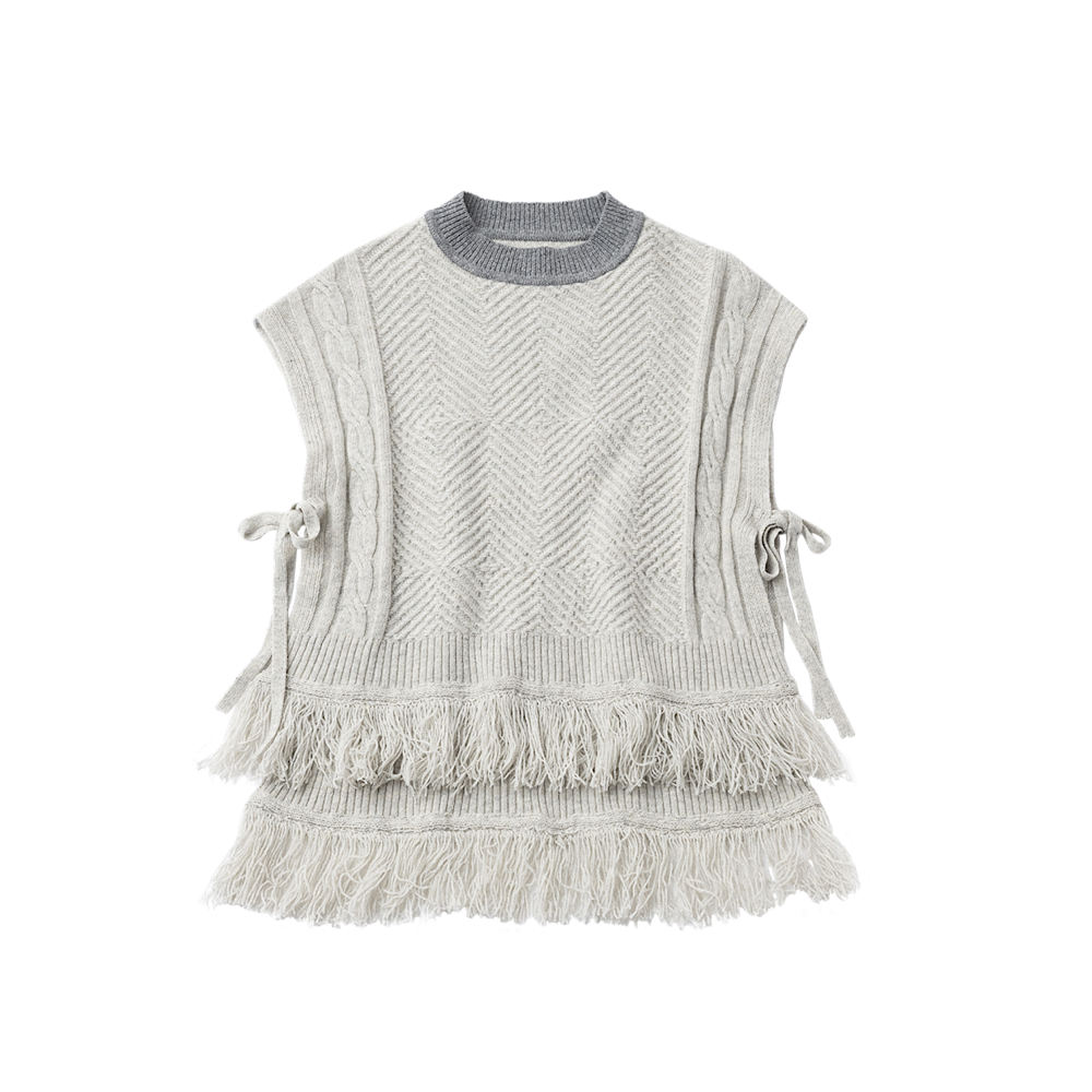 <img class='new_mark_img1' src='https://img.shop-pro.jp/img/new/icons14.gif' style='border:none;display:inline;margin:0px;padding:0px;width:auto;' />TRICOTE/cable vest