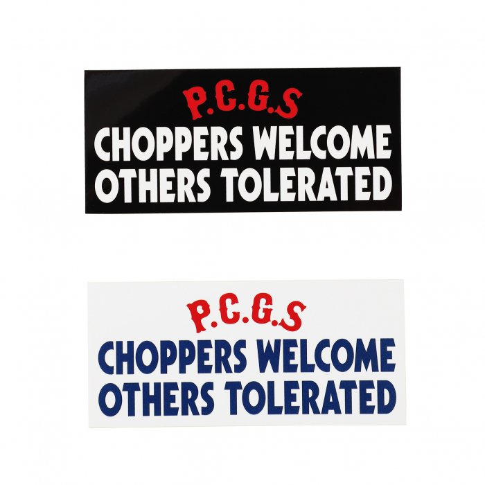 <img class='new_mark_img1' src='https://img.shop-pro.jp/img/new/icons14.gif' style='border:none;display:inline;margin:0px;padding:0px;width:auto;' />PORKCHOP GARAGE SUPPLY / CHOPPERS WELCOME STICKER