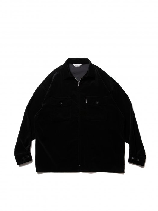 <img class='new_mark_img1' src='https://img.shop-pro.jp/img/new/icons14.gif' style='border:none;display:inline;margin:0px;padding:0px;width:auto;' />COOTIE / Velour Zip Up Work Shirt