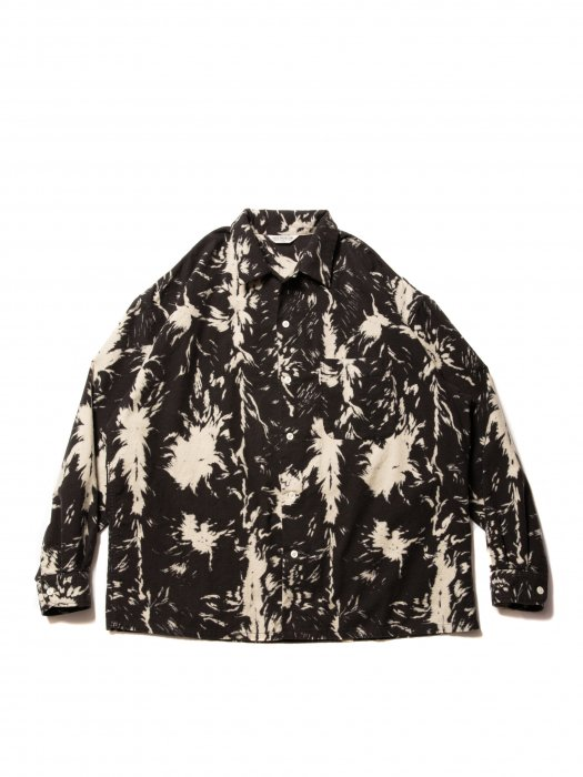 <img class='new_mark_img1' src='https://img.shop-pro.jp/img/new/icons14.gif' style='border:none;display:inline;margin:0px;padding:0px;width:auto;' />COOTIE / Wolf Print Nel Open Collar Shirt